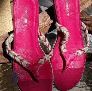 Dress Barn Shoes - New pink thong sandals size 8